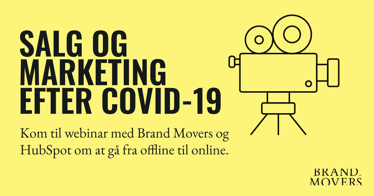 Webinar om salg og marketing efter Covid-19